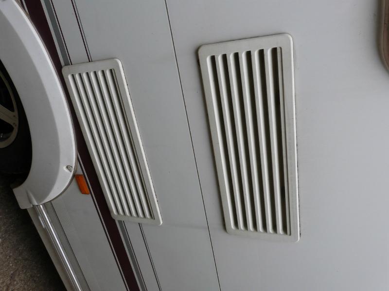 Caravan Campervan Motorhome Conversion Thetford Fridge Exterior Vents Image 1