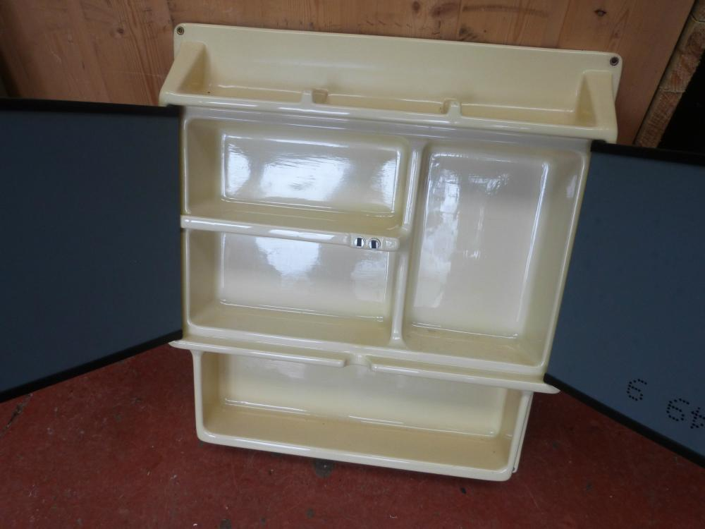 Caravan Motorhome Bathroom Small Shelve Mirror Unit