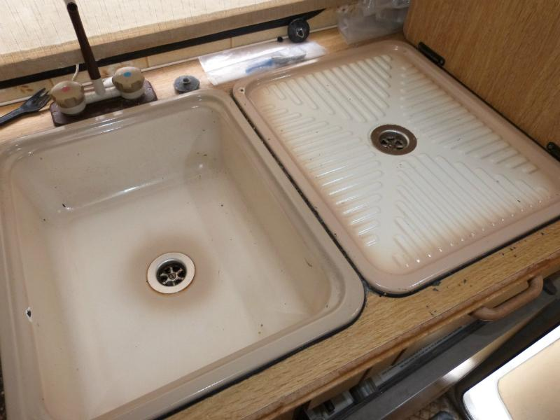 Caravan motorhome boat conversion kitchen sink drainer sinks at national caravan salvage ltd - Caravan kitchen sink ...