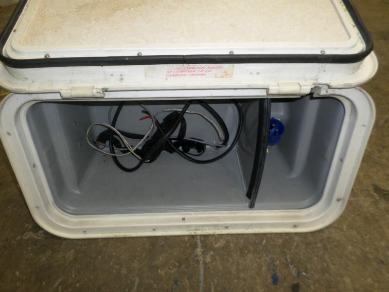 Used Caravan Battery Box With Door 600mm X 320mm X 250mm