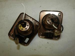 2 Bronze Colour 12V Spot Lights For caravan motorhome boat conversion REF VIP image 1