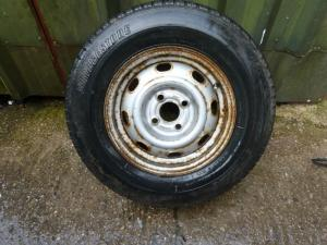 4 Stud Wheel and Bridgestone Tyre 175 r13 Ref Conwy image 1