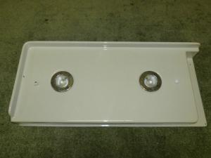 Caravan 2 Bathroom 12V Spot Lights with Panel motorhome boat conversion image 1