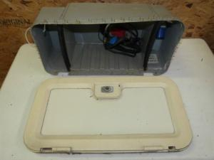 Caravan Battery Locker Box & Door campervan motorhome conversion REF01 image 1