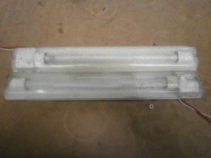 Caravan campervan motorhome conversion 2 x Fluorescent Strip Lights Lumo 1 image 1