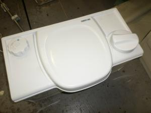 Caravan Campervan Motorhome White Colour Thetford Cassette Toilet Manual Flush image 1
