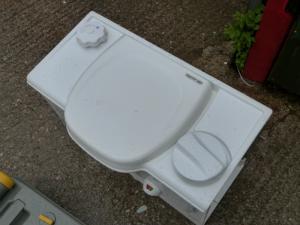 Caravan Campervan Motorhome White Colour Thetford RH Cassette Toilet Man Flush image 1
