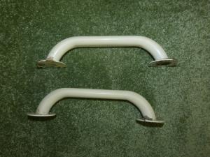 Caravan campervan motorhome White Metallic Exterior Pull Handles - 3 Screw Fit image 1