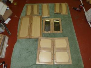 Caravan Cupboard Door Set of 17 motorhome conversion image 1