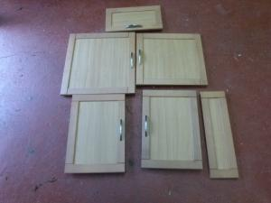 Caravan Cupboard Door Set of 6 motorhome conversion REF:ARGENT image 1
