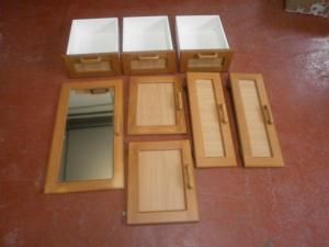 Caravan Cupboard Doors & Drawers 8 Pieces motorhome conversion image 1