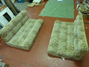 Caravan Cushion Set 4 Pieces motorhome boat conversion image 1