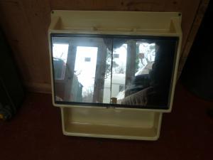 Caravan Motorhome Bathroom Small Shelve Mirror Unit 490x530mm REF CUSTOM image 1
