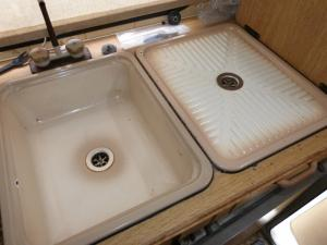 Caravan Motorhome Boat Conversion Kitchen Sink + Drainer image 1