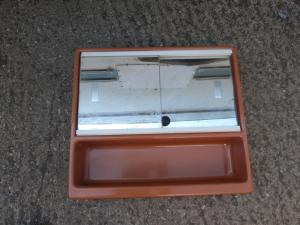 Caravan motorhome Conversion Brown Mirror Bathroom Unit REF DELTA image 1