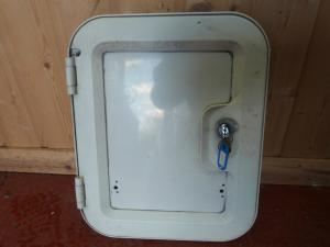 Caravan Motorhome Conversion Cassette Toilet Door with Key REF WEMWISP image 1