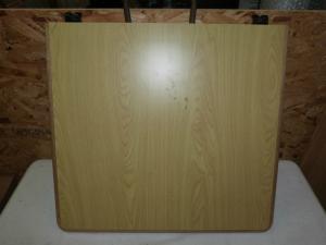 Caravan Motorhome Conversion Folding Single Leg Table 660mm x 600mm REF CHALL2 image 1
