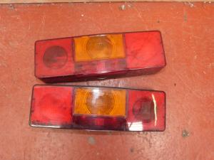 Caravan motorhome Pair of Rear Brake Light Clusters conversion REF SHREW image 1