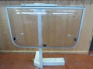 Caravan Motorhome Silver Trim Side Polyplastic Window 880x430mm - REF CONWY image 1