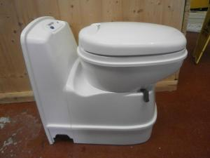 Caravan Thetford Swivel Bowl Cassette Toilet Electric Flush image 1