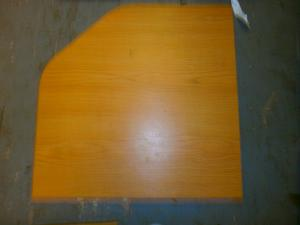 Caravan - (Used) occasional table without leg 450mm x 450mm image 1