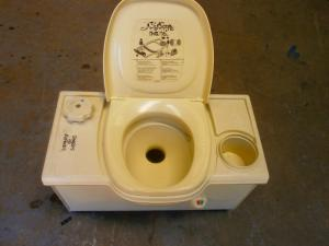Caravan Used Thetford Cassette Toilet,Electric Right Hand Flush Spares & Repairs image 1
