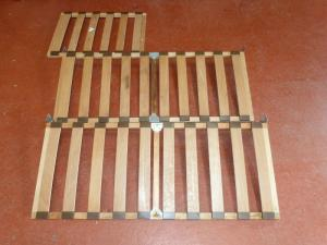 Caravan Wooden Folding Seating Bases 3 Piece campervan motorhome boat conversion image 1