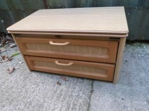 Caravans Campervan Motorhome Boat Centre Chest of Two Drawers Ref Conwy image 1