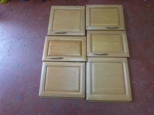 Hobby Caravan Motorhome Solid Wood Cupboard Door Set of 6 REF HOB image 1