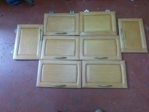 Hobby Caravan Motorhome Solid Wood Cupboard Door Set of 8 REF HOB2 image 1