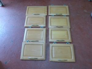 Hobby Caravan Solid Wood Cupboard Door Set of 8 REF HOB image 1