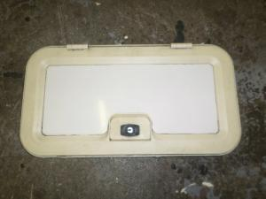 Used Caravan Battery Box Door 600mm x 320mm image 1