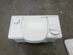 Used Caravan Thetford Cassette Toilet With Manual Right Hand Flush image 1