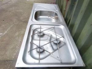 Weippert Caravan  Fridge Hob Sink And Drainer Combo REF WEIP image 1