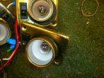 Caravan - (Used) - Wall Lights (Set of 4) - Brass Effect - (Slight Rusting) image 2